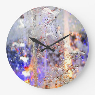 Rainbow Drops Large Clock