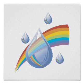 Rainbow drops posters