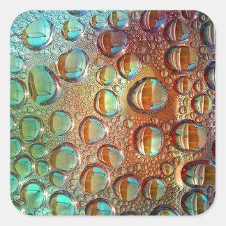 Rainbow Drops Square Sticker