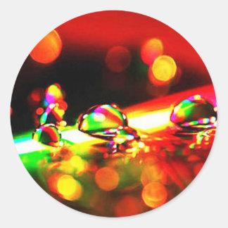 Rainbow Drops Round Stickers