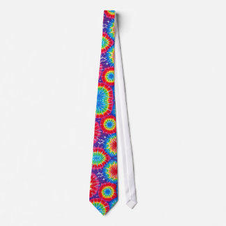 Rainbow Drops Tie-Dye Tie