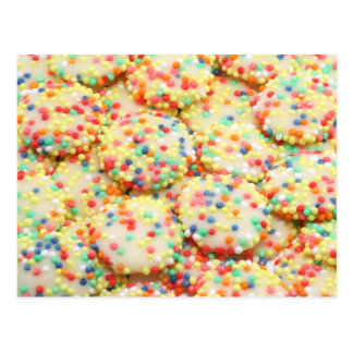 Rainbow Drops White Chocolate Candy Postcard