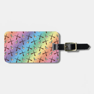 rainbow duck hunting pattern travel bag tags