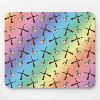 rainbow duck hunting pattern mouse pad