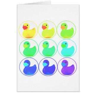 Rainbow Duckies Pattern Design Card