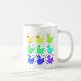 Rainbow Duckies Pattern Design Coffee Mug