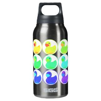 Rainbow Duckies Pattern Design Insulated Water Bottle