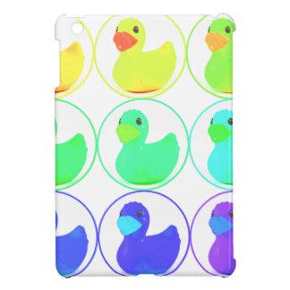Rainbow Duckies Pattern Design iPad Mini Case