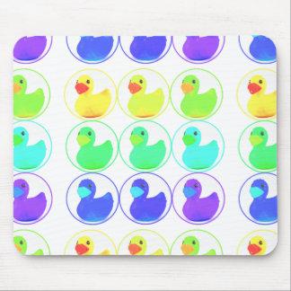 Rainbow Duckies Pattern Design Mouse Pad