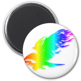 Rainbow Eagle 3 2 Inch Round Magnet