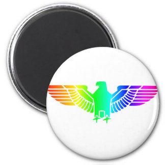 Rainbow Eagle 6 2 Inch Round Magnet