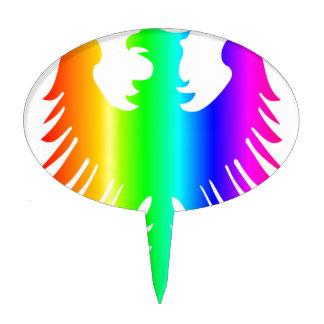 Rainbow Eagle Cake Topper