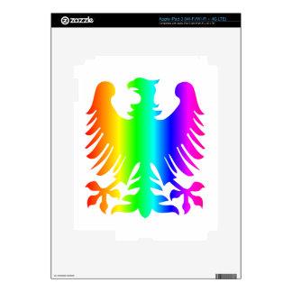 Rainbow Eagle iPad 3 Decal