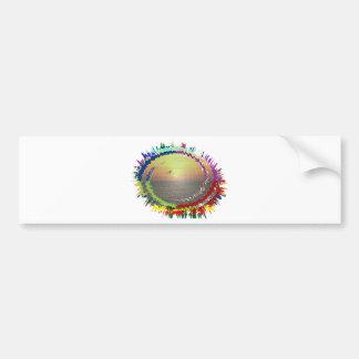 Rainbow Earth n Sky Bumper Stickers