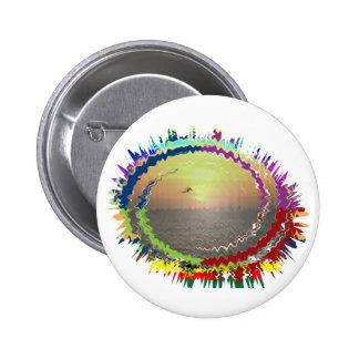 Rainbow Earth n Sky Pin