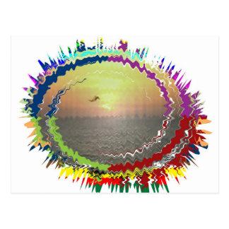 Rainbow Earth n Sky Postcard