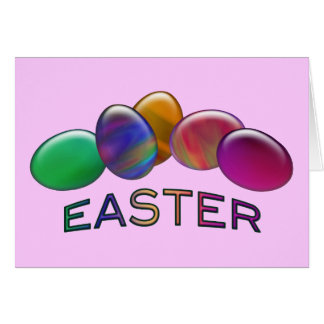 Rainbow Easter Eggs Greeting Cards
