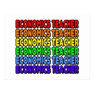 Rainbow Economics Teacher Postcard