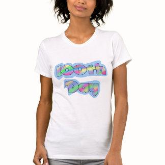 Rainbow Effect 100th Day of School Tshirts