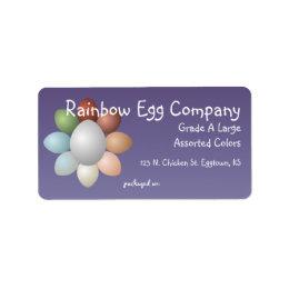 Rainbow Eggs Egg Carton Label