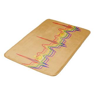 Rainbow EKG Sunray Bathroom Mat