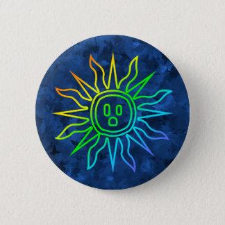 Rainbow Electric Sun Button