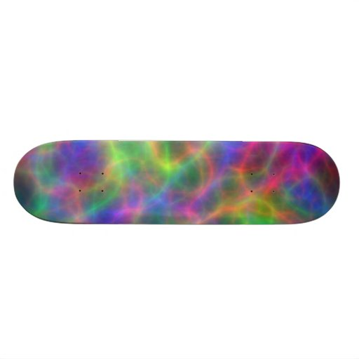 Rainbow Electrical Charges Of Light Skateboard Deck