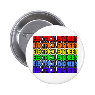 Rainbow Electrical Engineer Pinback Button