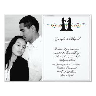 Rainbow Elegance Brides Wedding Engagement Custom Invites
