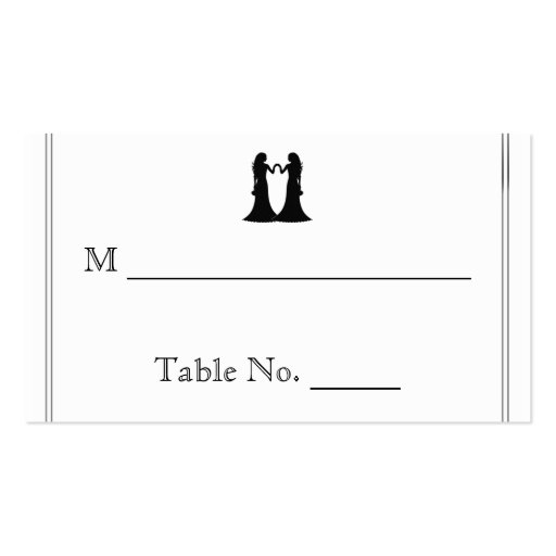 Rainbow Elegance Brides Wedding Place Cards Double-Sided Standard Business Cards (Pack Of 100)
