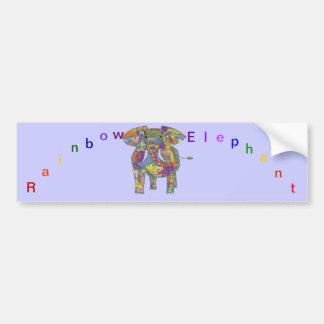 Rainbow Elephant, colourful design,for anyone. Bumper Sticker