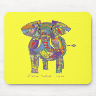 Rainbow Elephant, colourful design,for anyone. Mouse Pad