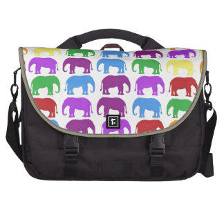 Rainbow Elephants Classy Designer Computer Bag