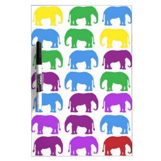 Rainbow Elephants Classy Designer Dry-Erase Boards