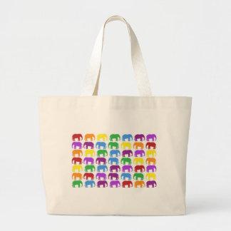 Rainbow Elephants Classy Designer Tote Bag