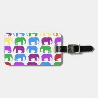 Rainbow Elephants Classy Designer Travel Bag Tag