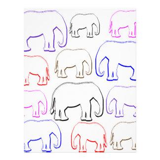 rainbow elephants letterhead