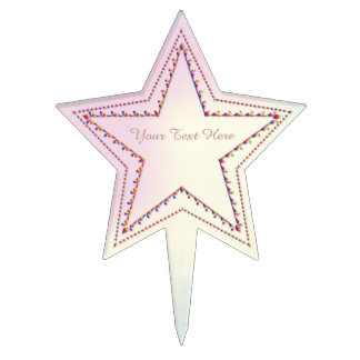 Rainbow Embossed Star - Cake Topper