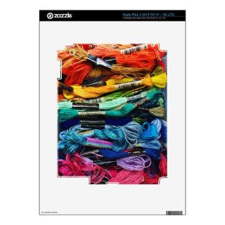 Rainbow Embroidery Floss   Threads   Sewing iPad 3 Skin