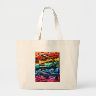 Rainbow Embroidery Floss | Threads | Sewing Large Tote Bag