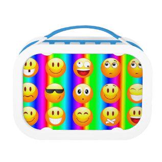 Rainbow Emoji Lunch Box Lunchbox at Zazzle
