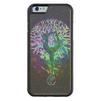 Rainbow Energy Yin Yang Yoga Carved Maple iPhone 6 Bumper Case