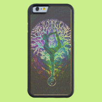 Rainbow Energy Yin Yang Yoga Carved Maple iPhone 6 Bumper Case