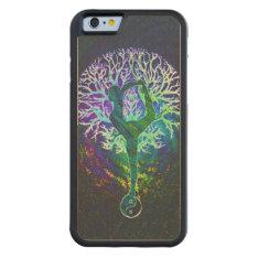Rainbow Energy Yin Yang Yoga Carved Maple Iphone 6 Bumper Case at Zazzle