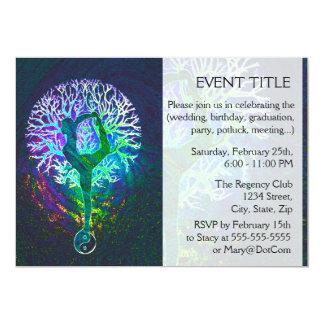 "Rainbow Energy Yin Yang Yoga 5"" X 7"" Invitation Card"