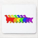 Rainbow English Setter Mouse Pad