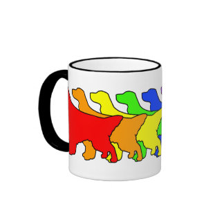 Rainbow English Setter Coffee Mugs