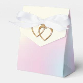 Rainbow Entwined Hearts-Gift Bag 1 Wedding Favor Box