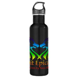 Rainbow Epic Knits Logo Waterbottle Water Bottle