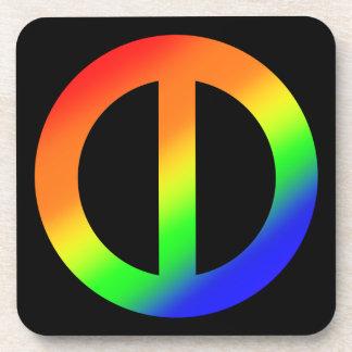 Rainbow Equality Coasters